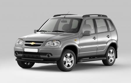 Защита порогов с площадкой d63мм Chevrolet Niva FL (ППК)